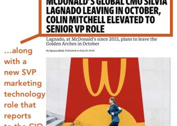 McDonald's extingiram o cargo de CMO